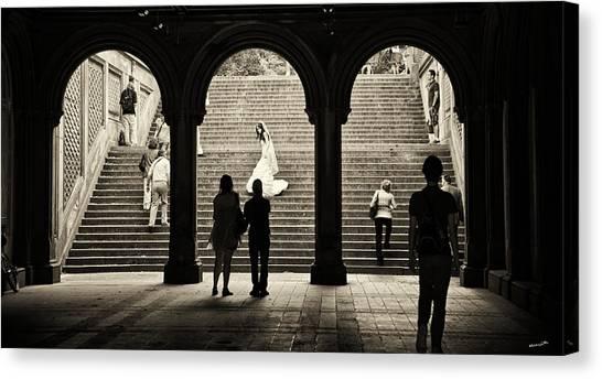 Central Park Bride Canvas Print