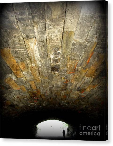Central Park Bridge Canvas Print by Maria Scarfone