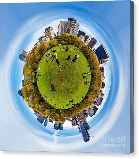 Symmetrical Canvas Print - Central Park Circagraph  by Az Jackson