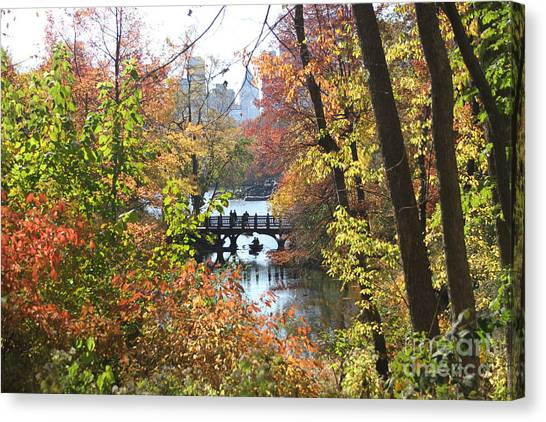 Central Park In The Fall-2 Canvas Print