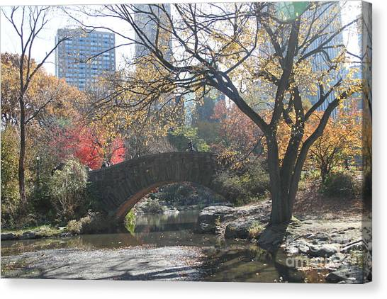 Central Park In The Fall-3 Canvas Print