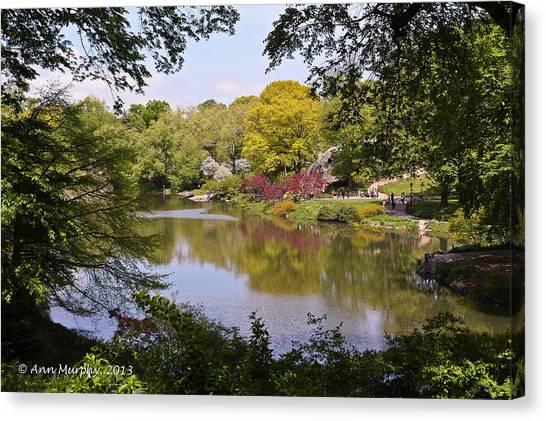 Central Park Landscape Canvas Print