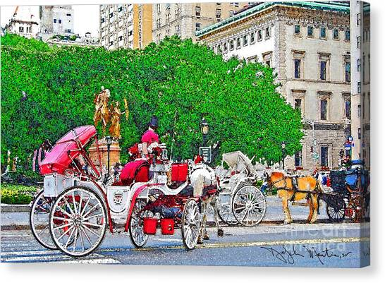 Central Park Ny Canvas Print by Art Mantia