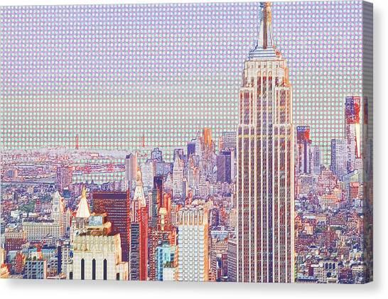 City Landscape Canvas Print - Central Park Top Of The Rock by Van Tsao