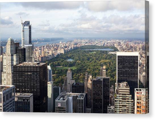 Central Park Canvas Print by Wolfgang Woerndl