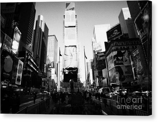 Manhatan Canvas Print - Centre Of Times Square In Daytime New York City by Joe Fox