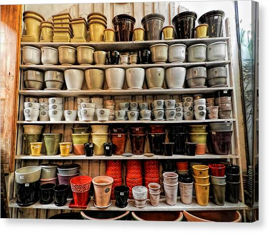 Ceramic Pots For Sale Canvas Print