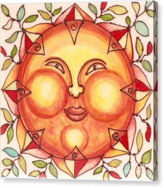 Ceramic Sun 2 Canvas Print