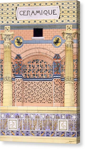 Tile Canvas Print - Ceramics Designs For Tiled Wall by Rene Binet