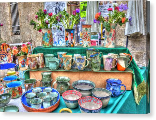Ceramics Stall Canvas Print