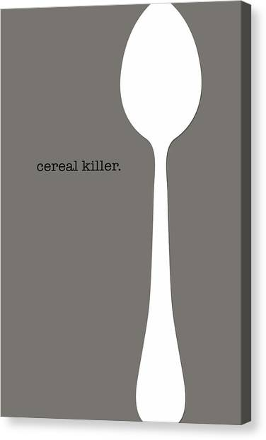 Canvas Print featuring the digital art Cereal Killer by Nancy Ingersoll