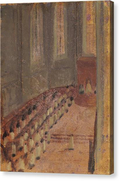 Priests Canvas Print - Ceremony Of Ordination At Lyon Cathedral by Edgar Degas