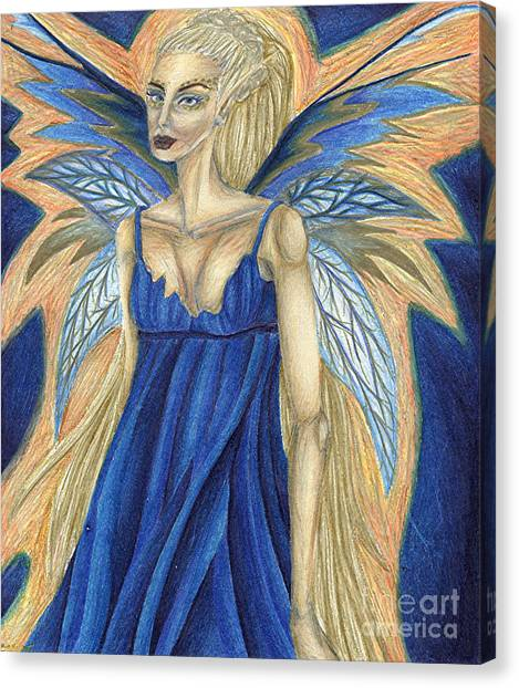 Cerulean Queen Canvas Print by Coriander  Shea