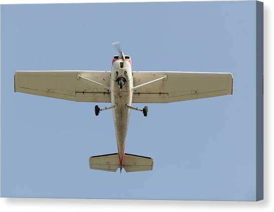 Cessnas Canvas Print - Cessna 150m Light Aircraft by Aviation Images / Science Photo Library