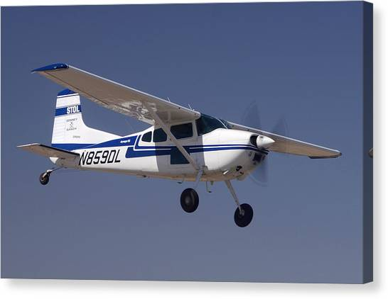Cessnas Canvas Print - Cessna A185f N859dl Casa Grande March 3 2012 by Brian Lockett