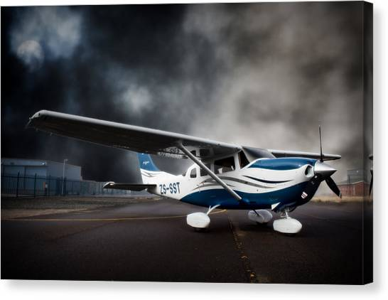 Cessnas Canvas Print - Cessna Ground by Paul Job