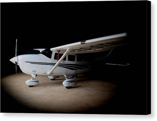 Cessnas Canvas Print - Cessna Waiting by Paul Job