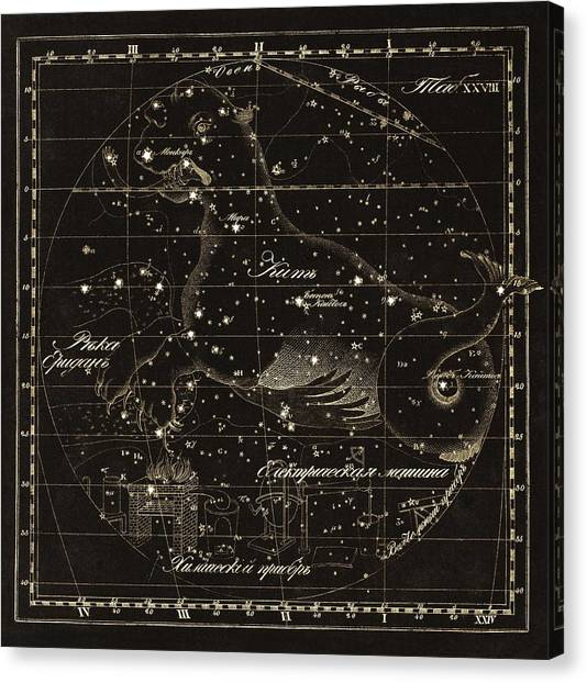 Cetus Constellations, 1829 Canvas Print by Science Photo Library