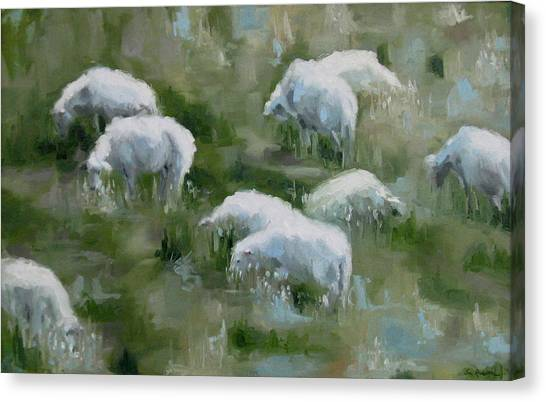 Cezanne Sheep Canvas Print