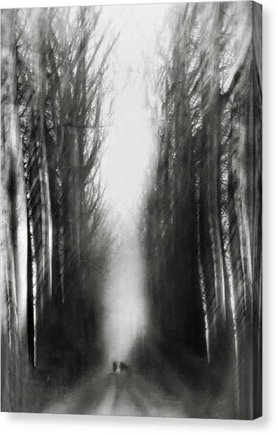Belgium Canvas Print - Cezanne's Walk by Yvette Depaepe