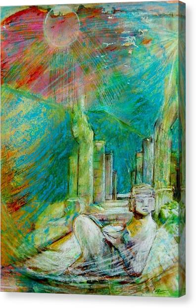 Chacmool De Chichen Itza Canvas Print