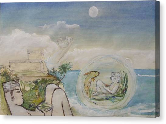 Chacmool Dream Of Tulum Canvas Print