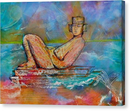 Chacmool Of The Lava Lounge Canvas Print