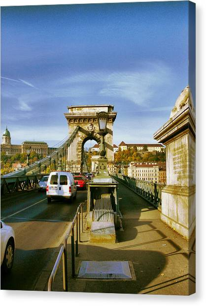 Chain Bridge-1 Canvas Print by Janos Kovac