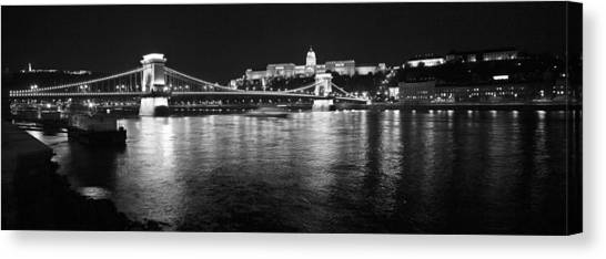 Chain Bridge-budapest Canvas Print