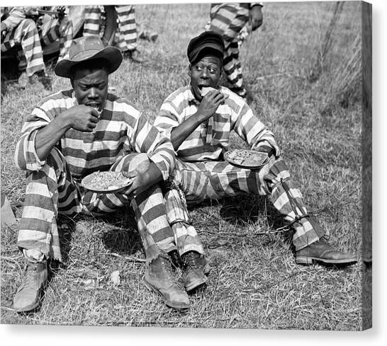 Cornbread Canvas Print - Chain Gang Lunch Time by Underwood Archives