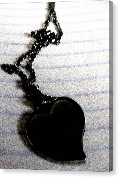 Chained Heart Canvas Print