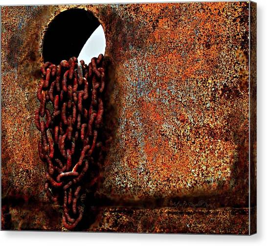 Chained To The Past And Rusted Canvas Print