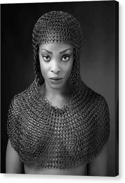 Soldiers Canvas Print - Chainmail Lady by Ross Oscar