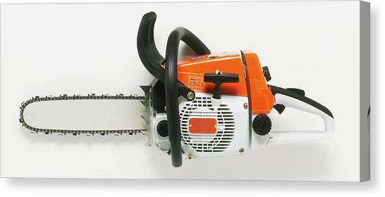 Chainsaw Canvas Print - Chainsaw by Dorling Kindersley/uig