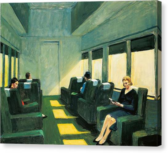 First Lady Canvas Print - Chair Car by Edward Hopper