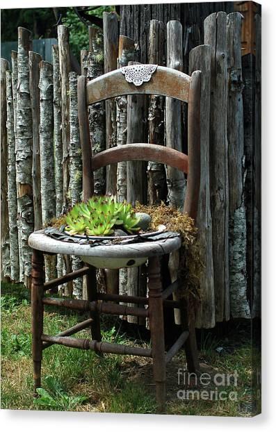 Chair Planter Canvas Print