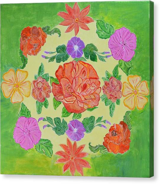 Mandal Canvas Print - Chaitra Mandala by Sonali Gangane