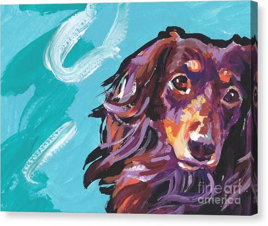 Dachshunds Canvas Print - Chaka Dox by Lea S