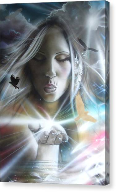 Golden Eagle Canvas Print - Chakra by Christian Chapman Art