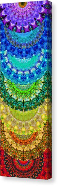 Om Canvas Print - Chakra Mandala Healing Art By Sharon Cummings by Sharon Cummings