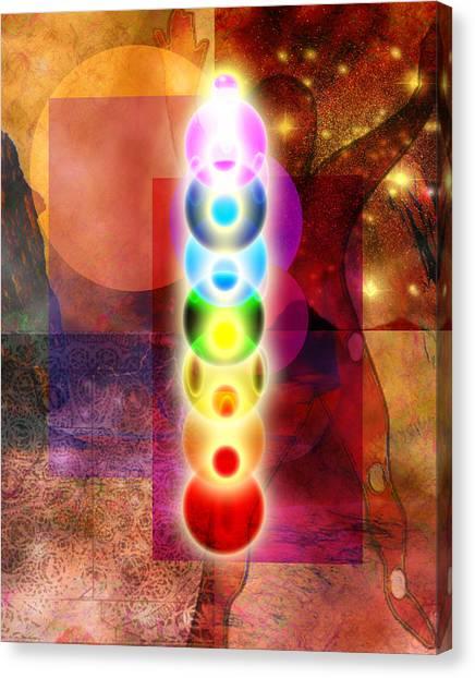 Chakra Mystery Canvas Print by Bruce Manaka