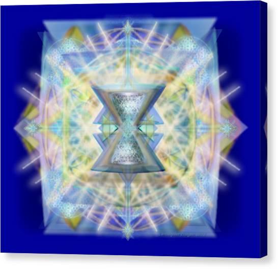 Chalicell Matrix Rainbow Cross Of Light Canvas Print