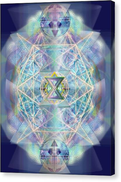 Chalicells Electric Sparkling Vortices Of Light II Canvas Print