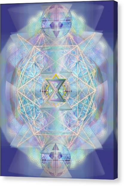 Chalicells Electro Dynamic Vortices Of Light Canvas Print