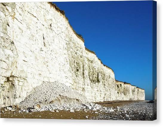 Chalk Cliffs Canvas Print by Carlos Dominguez