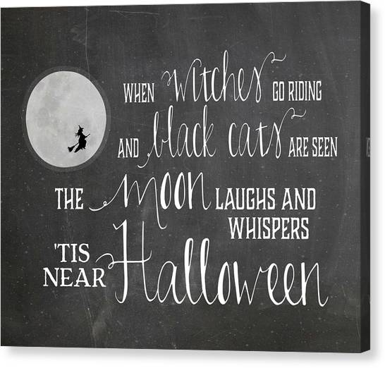 Halloween Canvas Print - Chalkboard Halloween by Amy Cummings
