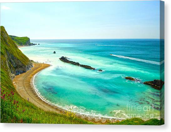 Chalky Shores Canvas Print