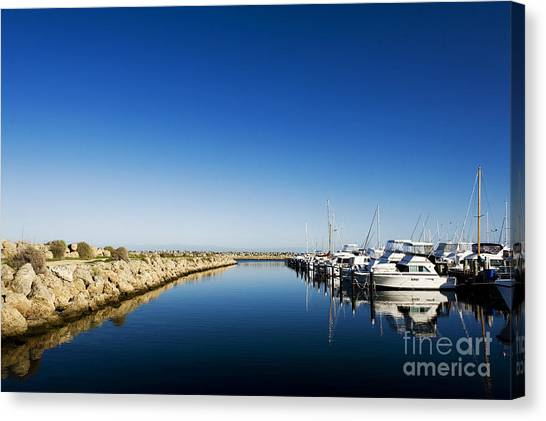 Canvas Print featuring the photograph Challenger Harbour Of Fremantle by Yew Kwang