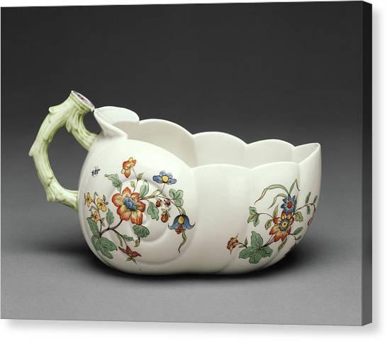 Chamber Pot Canvas Print - Chamber Pot Bourdaloue Chantilly Porcelain Manufactory by Litz Collection