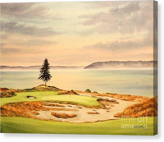 Chambers Bay Golf Course Hole 15 Canvas Print